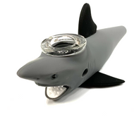 """Silicon Shark Pipe with Glass Bowl 5"""" Assorted Colors"""