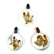 "Historic Psilocybin Mushroom Glass Pendant From Denver 2019 1.6"" x 2.1"""
