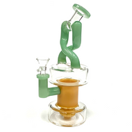 """Crossover Cupholder Recyler Glass Water Pipe 10"""""""