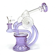 """Tube Tank Recyler Glass Water Pipe 8.25"""""""