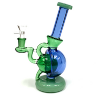 """Round Bubble Recyler Glass Water Pipe 7.87"""""""