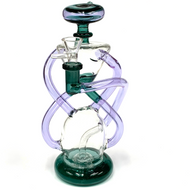 DNA Sequence Recyler Glass Water Pipe 9.75""