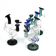 "Tuba Wata Mova Recycler Glass Water Pipe 8"""
