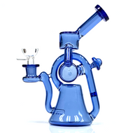"""Robo Dab Butler Lost Its Head Recycler Glass Water Pipe 8"""""""