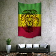 "Rasta Lion Wall Hanging Tapestry 30""x40"""