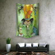 "Mad Hatter Wall Hanging Tapestry 60""x90"""