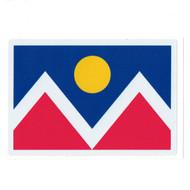 """Denver Flag High Quality Sticker 2.75"""" x 4"""""""