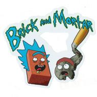 "Brick and Mortar High Quality Sticker 3.5"" x 4"""