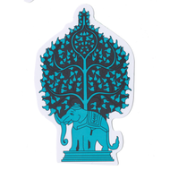 Blue Tree Elephant Sticky Boy High Quality Sticker