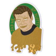 Dabbin' Shatter-ner Space Walk Sticky Boy High Quality Sticker