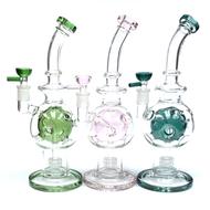 "Fabulous Faberge Egg Matrix Perc Glass Water Pipe 11"""