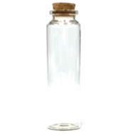 "Skinny Mouth Cork Glass Jar  3.9"" x 1.1"""