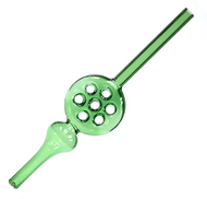 Glass Waffle Straw Nectar Collector Green 10""