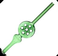 "Glass Waffle Straw Nectar Collector Green 10"""