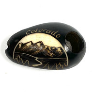Colorado Mountain Stream- Tagua Nut Hand Carved Pipe