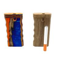 Wooden Dugout w/ Finger Grip and Metal Cigarette Bat 1 Set Assorted Colors