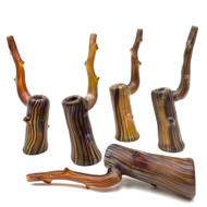 """Large Glass Manzanita Drift Wood Water Bubbler Pipe 9.5"""""""