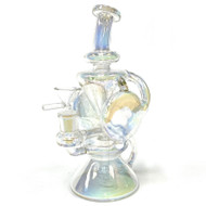 Sargent Peppermint Candy Pants Recycler Glass Water Pipe Puffr Assorted Colors 1 Count