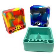 "Knockout Bowl Pokey Silicone Ashtray with Tool Area 3""x 3.25"" Assorted Color 1 Count"