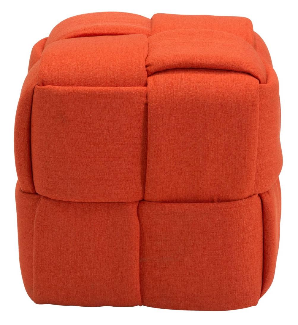 zuo checks stool orange