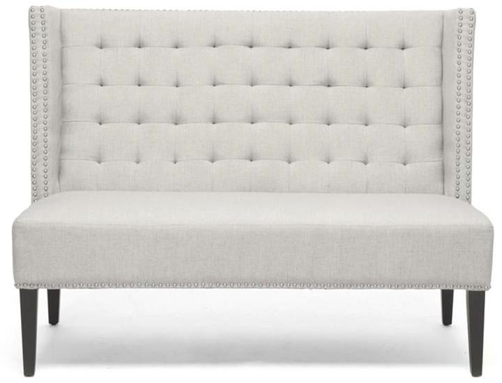 Beige Linen Dominique Bench by Baxton