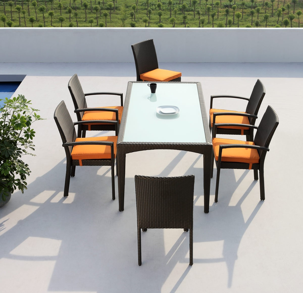 brand new 7 pc outdoor dining set available at AdvancedInteriorDesigns.com