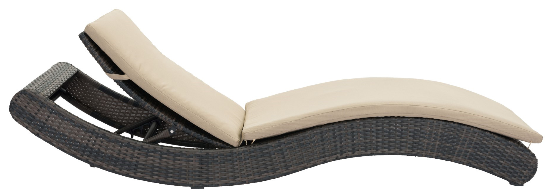 Zuo Pamelon Beach Chaise Lounge Brown and Beige