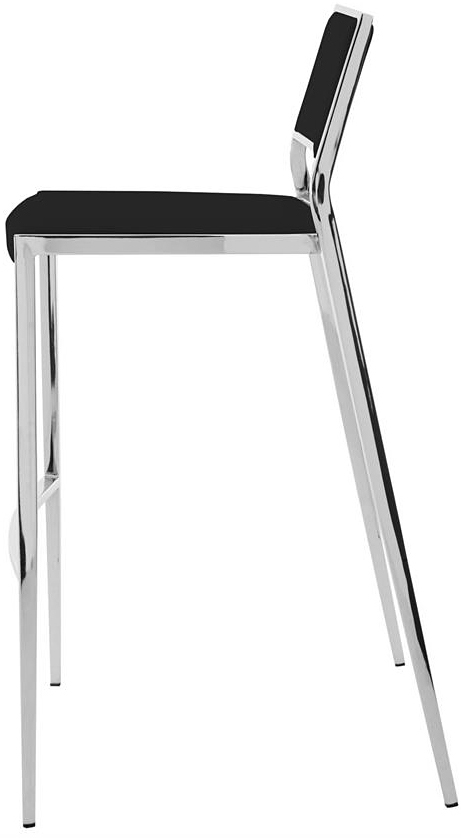 the aaron bar stool in black