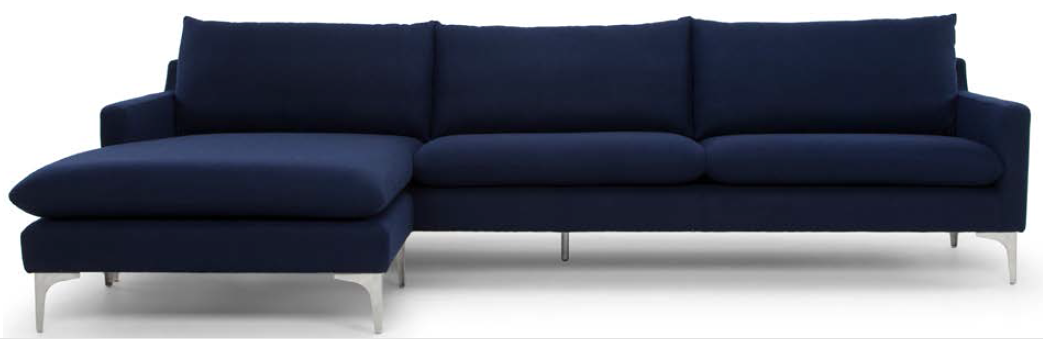 the new nuevo living anders sectional sofa in navy blue