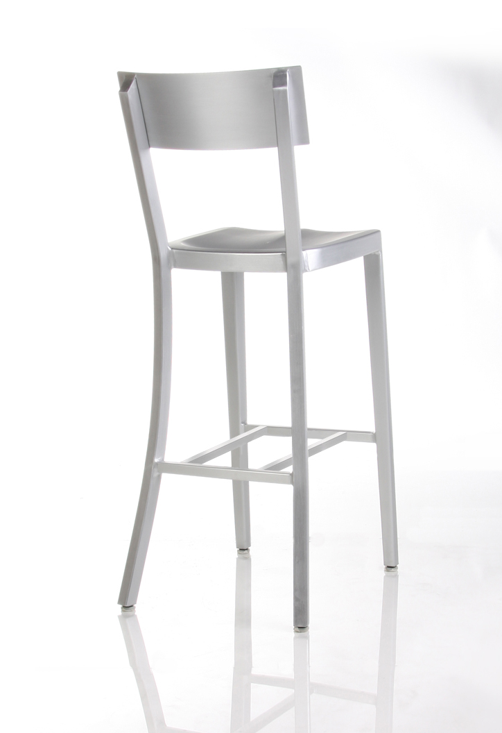 Cafe Aluminum Bar Stool-Back View