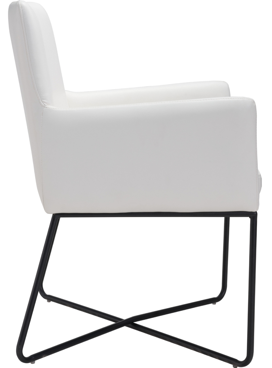 zuo axel lounge chair white