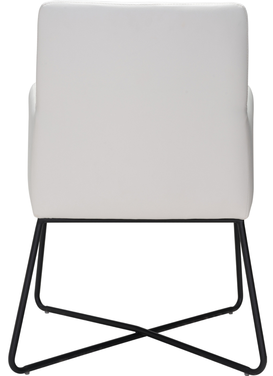 zuo modern axel lounge chair in white