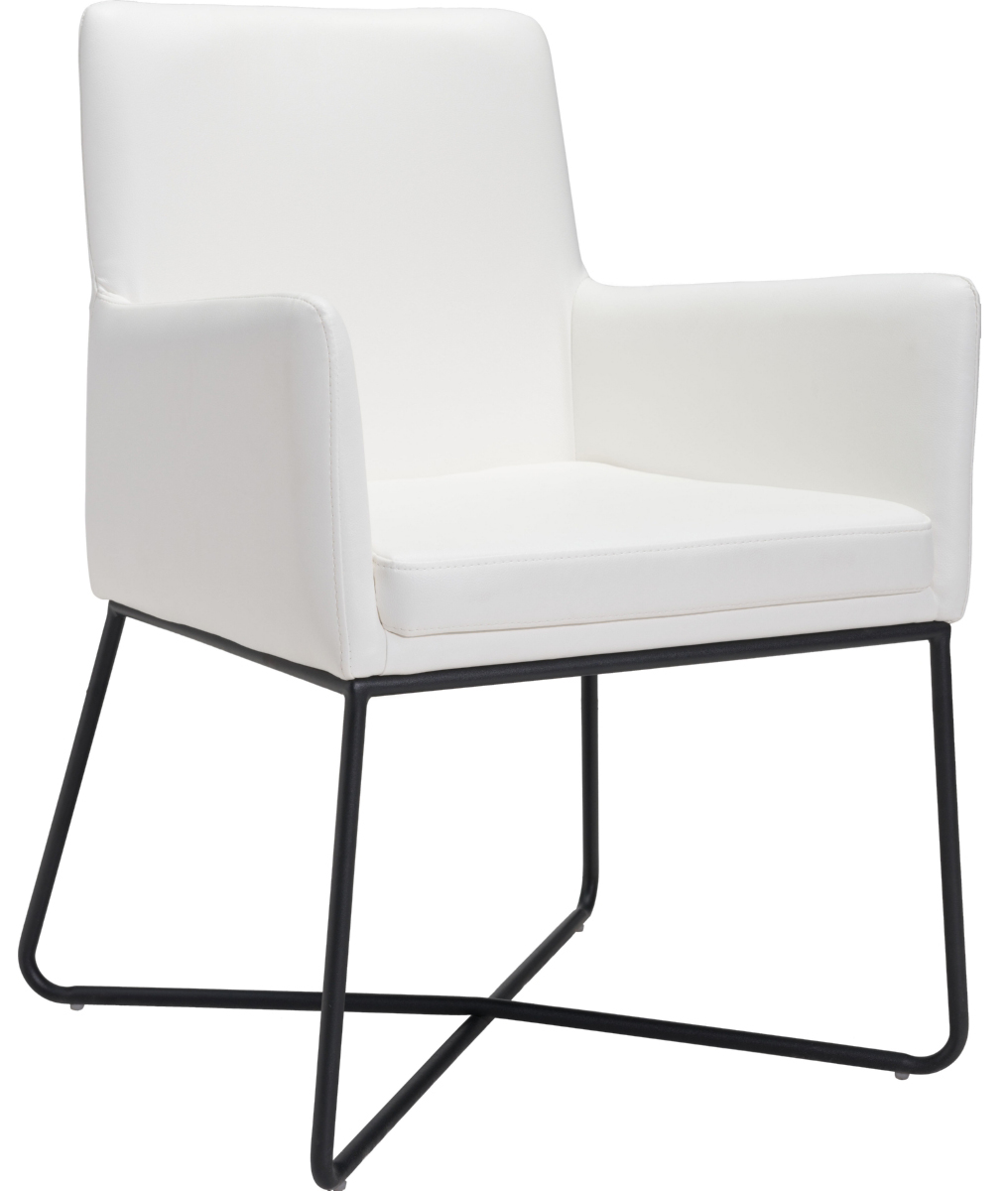zuo modern axel lounge chair white