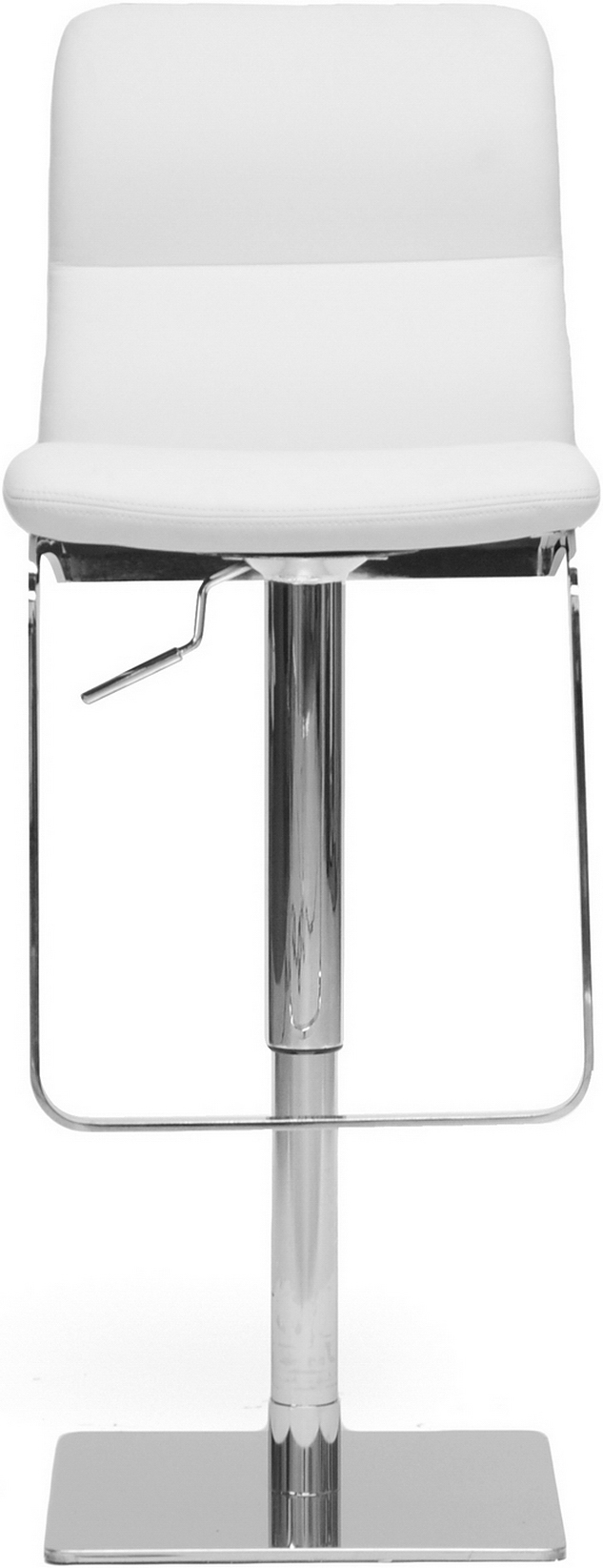 the baxton studio helsinki modern bar stool white