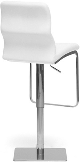 baxton studio white helsinki modern bar stool