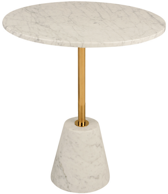 nuevo living bianca side table