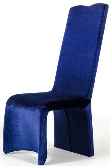 advanced interior designs recently added a new blue chair to its collection