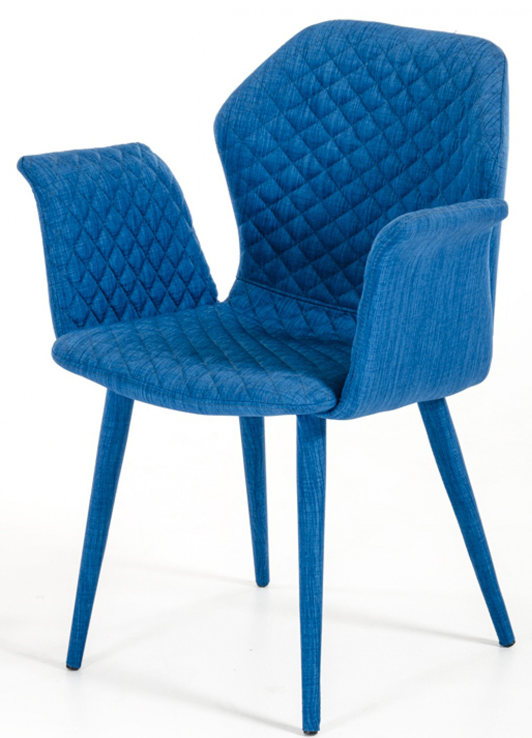 Picture of: Adamo Blue Upholstered Dining Chair Blue Fabric Dining Chair