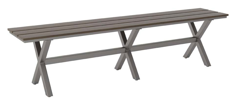 zuo modern bodega bench industrial gray brown