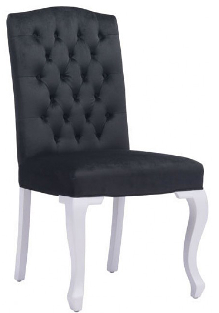 brand new bourbon dining chair black velvet available at AdvancedInteriorDesigns.com