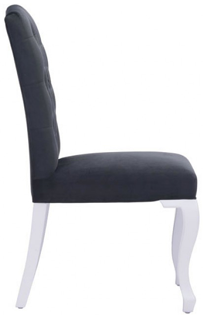 zuo mod bourbon dining chair black velevet