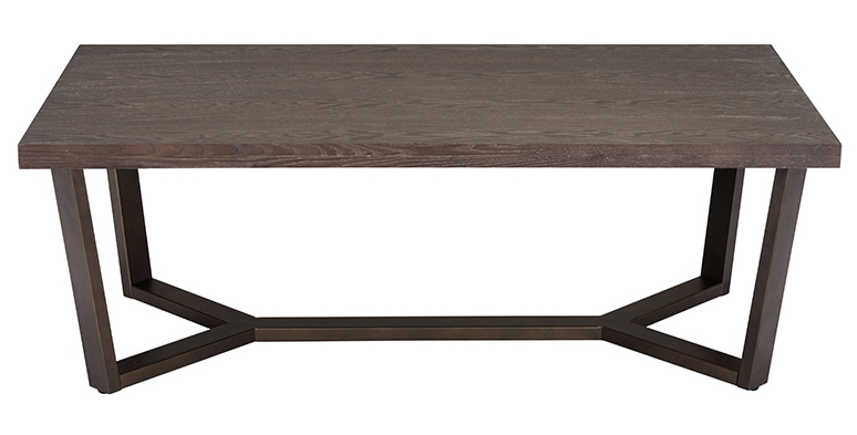 zuo modern brooklyn coffee table gray oak antique brass