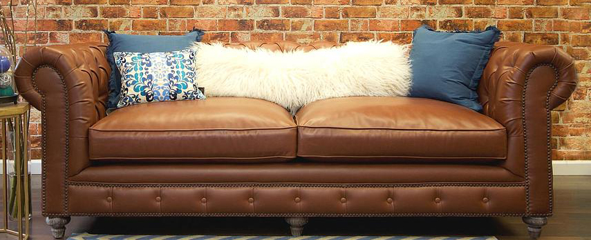 chesterfield leather sofa brown available at AdvancedInteriorDesigns.com