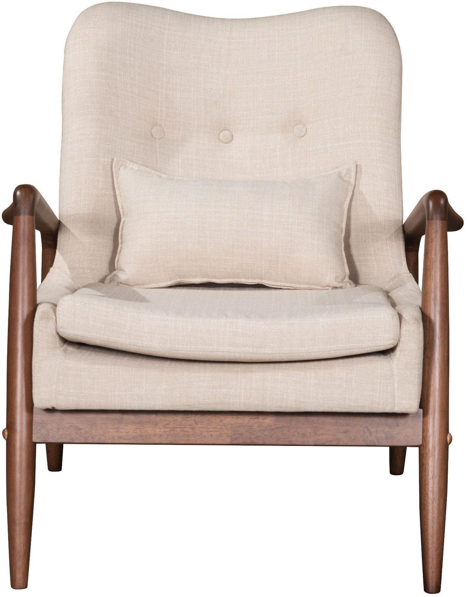 bully lounge chair ottoman beige
