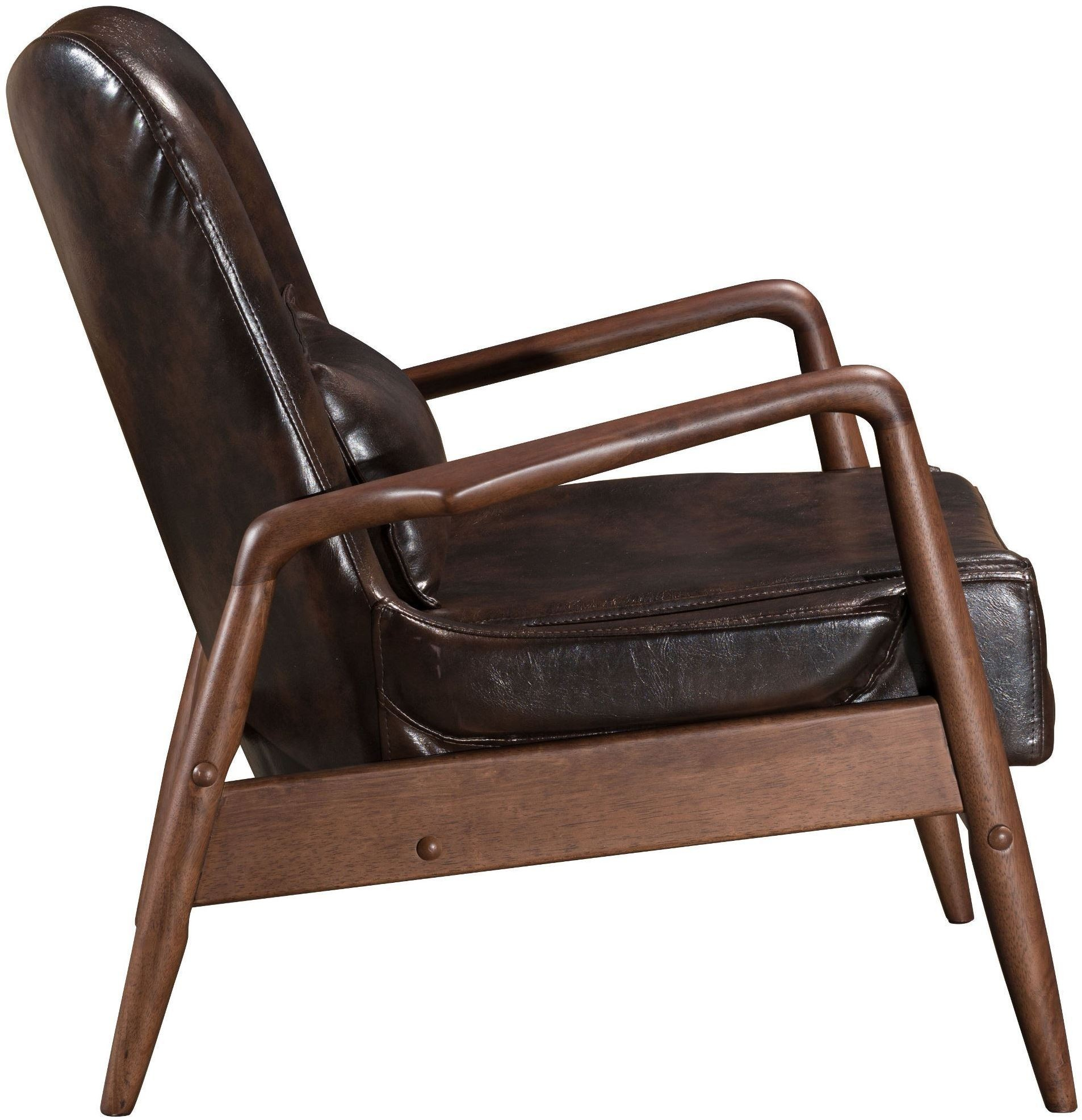 bully lounge chair ottoman brown