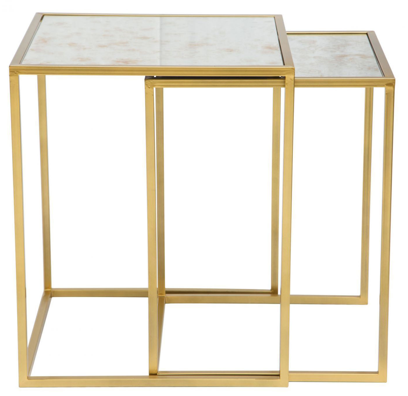 zuo modern calais nesting tables brass