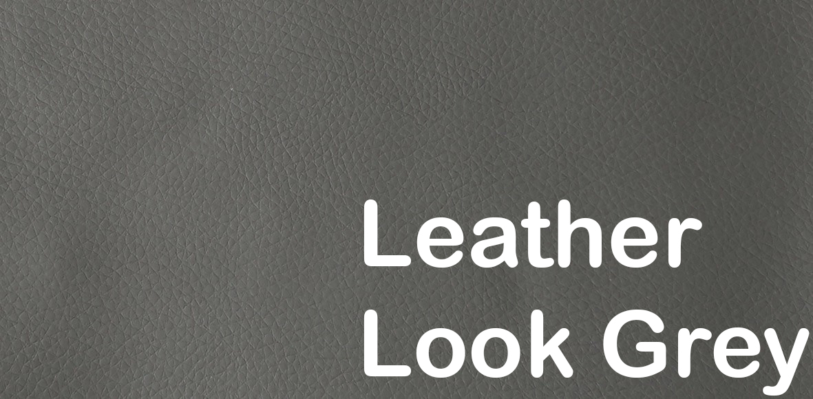 cassius quilt deluxe leather look grey