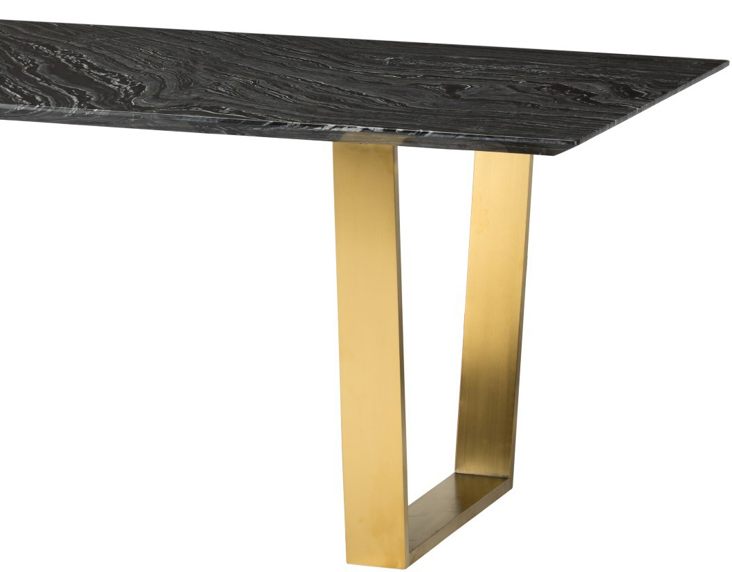 the nuevo catrine dining table in black gold