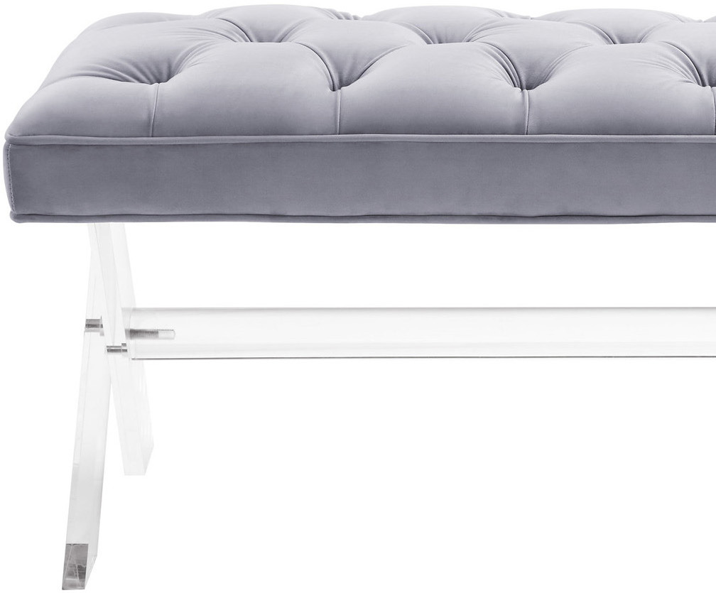 the claudia bench in grey