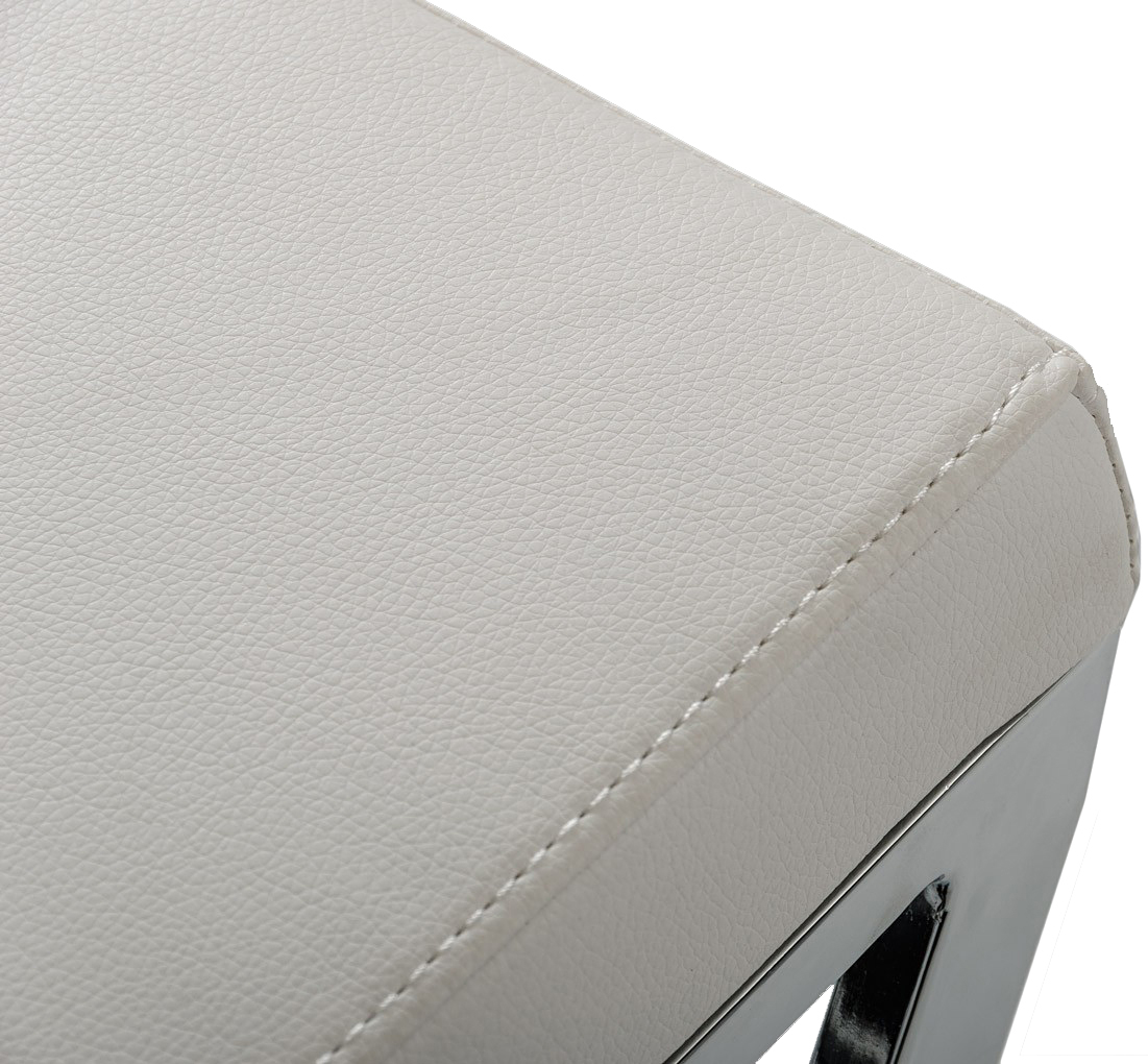 close up of bettina modern barstool in white